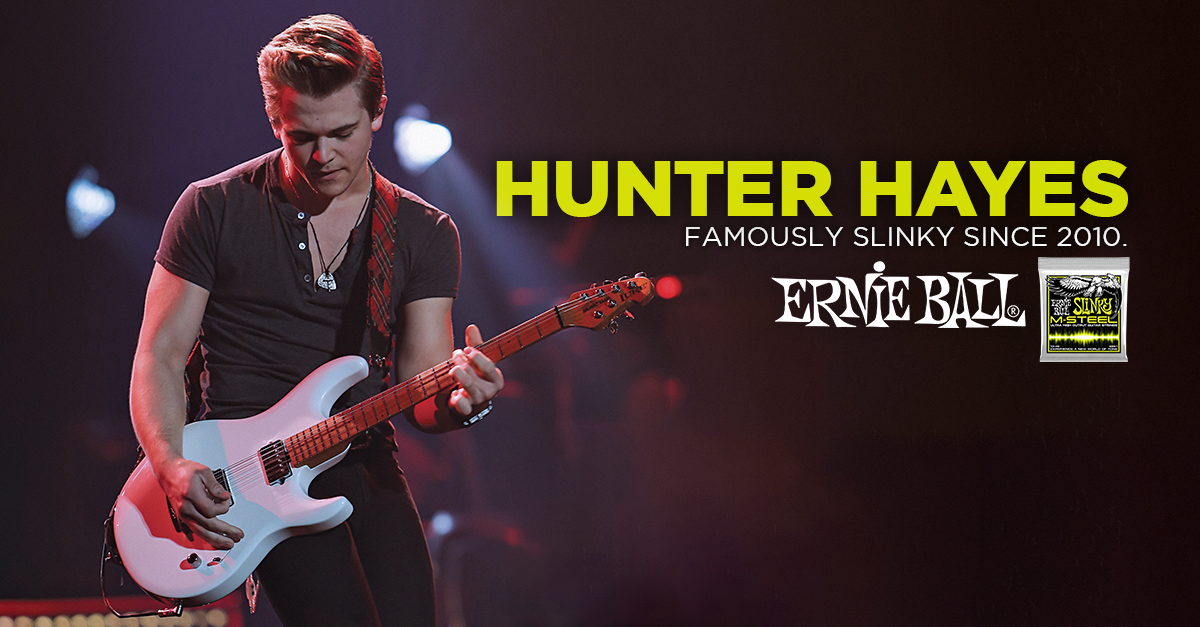 hunter hayes performs new song on gma this morning ernie ball blog. Black Bedroom Furniture Sets. Home Design Ideas