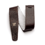 "Ernie Ball 2.5"" Italian Leather Strap With Fur Padding - Chestnut"
