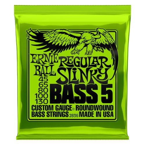 Ernie Ball Regular Slinky Bass 5 String Set 45-130